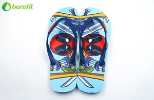 Summer Men's Colorful Cute Printed PE Flip Flops