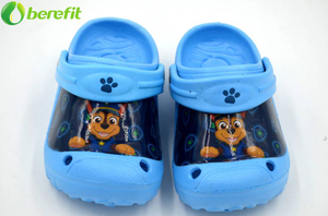 EVA Boys Blue Cartoon Big Patch Clogs Sandals