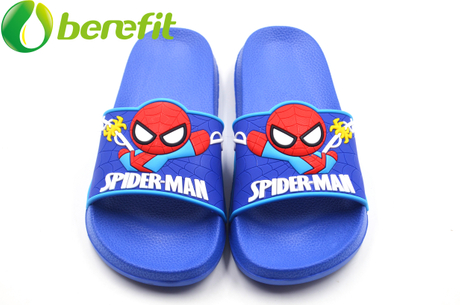 Spider-man Blue Kids Slide Sandals Boys