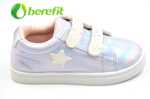 Casual Shoes for Kids with Fashionable Iridescence PU And PVC Sole