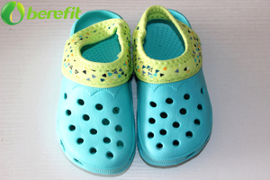 Toddler Kids New Design Green Garden Clogs with Elastic Back Strap