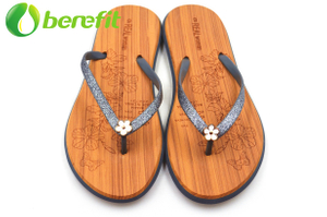 Flip Flops for Women With Flower Decoration